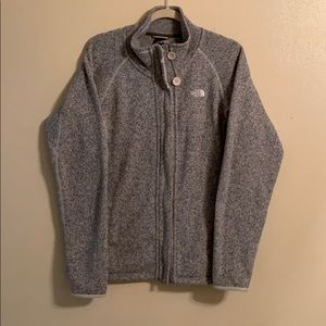 North Face sweater fleece jacket with pockets